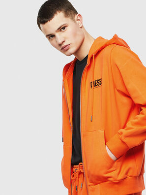 S-GIRK-HOOD-ZIP-LOGO, Orange - Sweatshirts