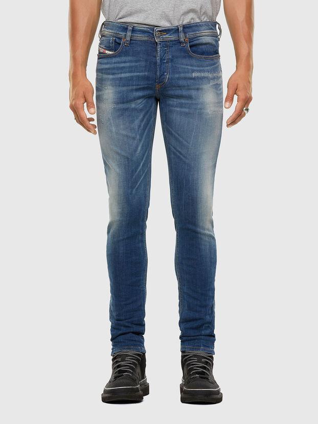 Sleenker 009FC, Mittelblau - Jeans
