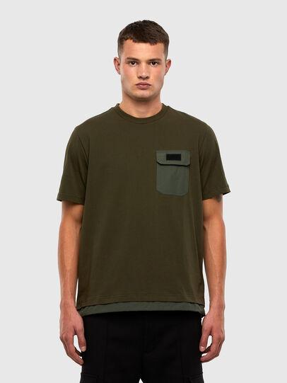 Diesel - T-ARMI, Olivgrün - T-Shirts - Image 1