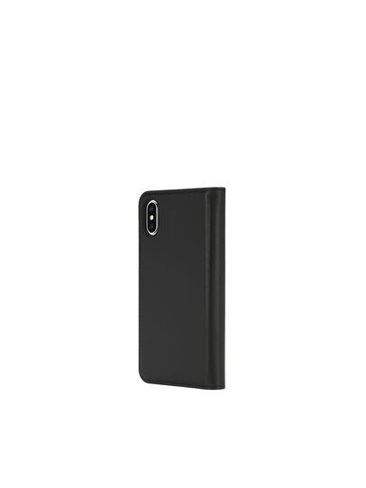 Diesel - SLIM LEATHER FOLIO IPHONE X, Schwarz - Klappcover - Image 5