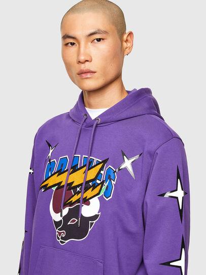 Diesel - CL-S-GIRK-HOOD-O1, Violett - Sweatshirts - Image 5