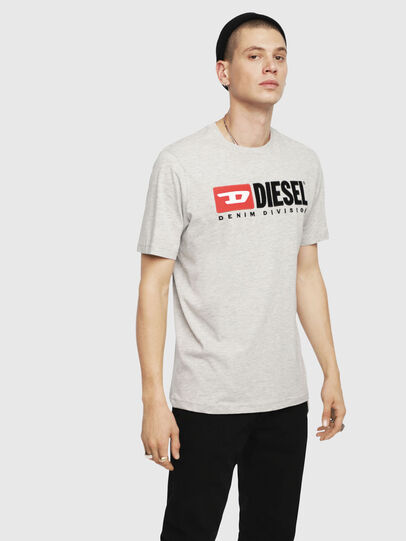 Diesel - T-JUST-DIVISION, Hellgrau - T-Shirts - Image 1