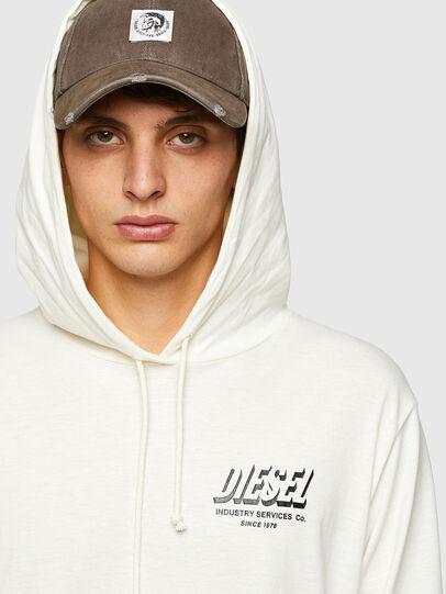 Diesel - T-JUST-LS-HOOD-SLITS, Weiß - T-Shirts - Image 3