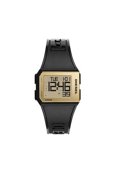 Chopped-Armbanduhr mit Digitalanzeige schwarz und gold