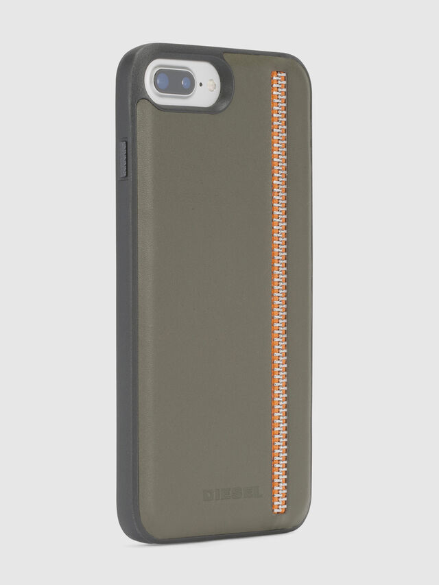 ZIP OLIVE LEATHER IPHONE 8/7/6s/6 CASE, Olivgrün