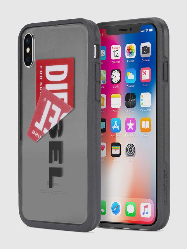Diesel STICKER IPHONE X CASE, Schwarz - Schutzhüllen - Image 1