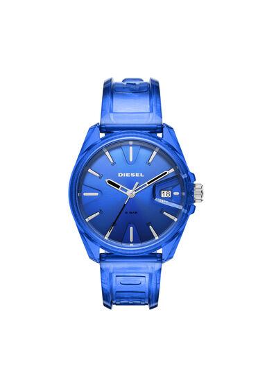 MS9-Armbanduhr mit drei Zeigern und transparent blauem Armband