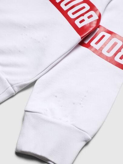 Diesel - SBAYHOLES OVER, Weiß/Rot - Sweatshirts - Image 4