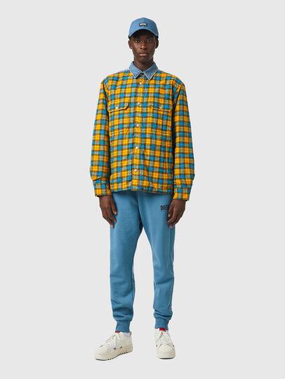 Diesel - S-BUN, Blau/Gelb - Hemden - Image 4