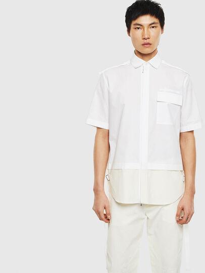 Diesel - S-GIBBS, Weiß - Hemden - Image 1