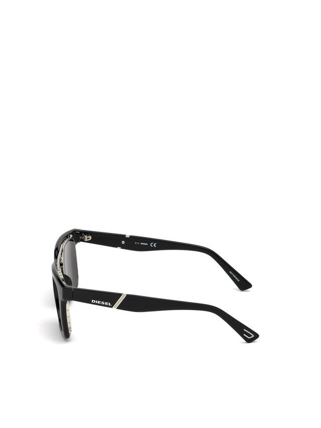 Diesel - DL0250, Brillantschwarz - Sonnenbrille - Image 2