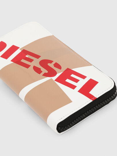 Diesel - 24 ZIP, Weiß/Rot - Portemonnaies Zip-Around - Image 5