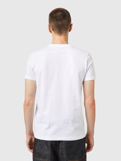 Diesel - T-DIEGOS-K26, Weiss/Rot - T-Shirts - Image 2