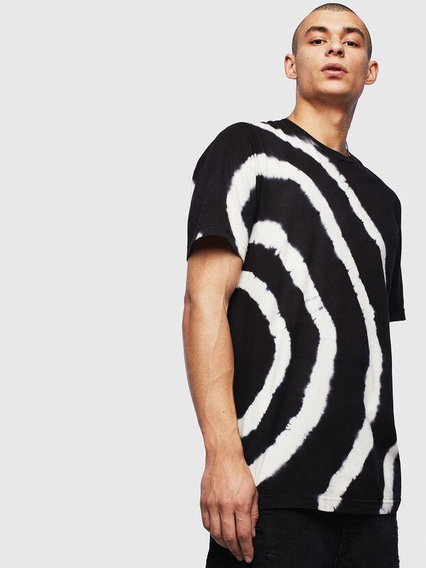 T-JUST-T16, Schwarz/Weiß - T-Shirts