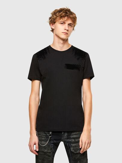 Diesel - T-IEGO-A, Schwarz - T-Shirts - Image 1