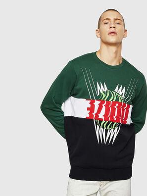 S-GIR-CUT, Grün/Schwarz - Sweatshirts
