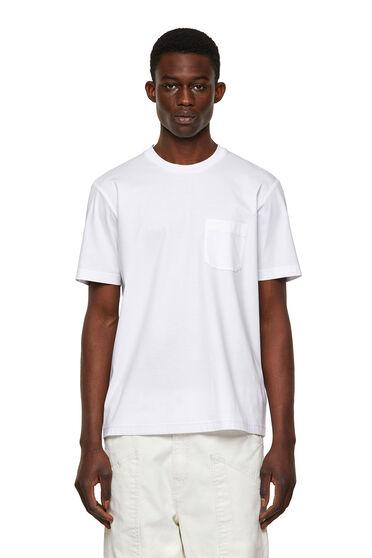 T-Shirt aus Baumwolle mit bedruckter Tasche