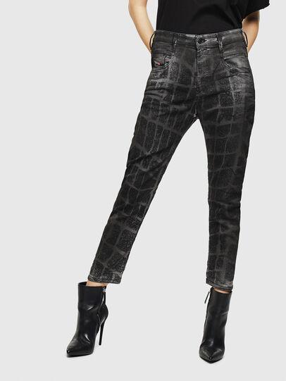 Diesel - Fayza JoggJeans 0094M, Schwarz/Dunkelgrau - Jeans - Image 1