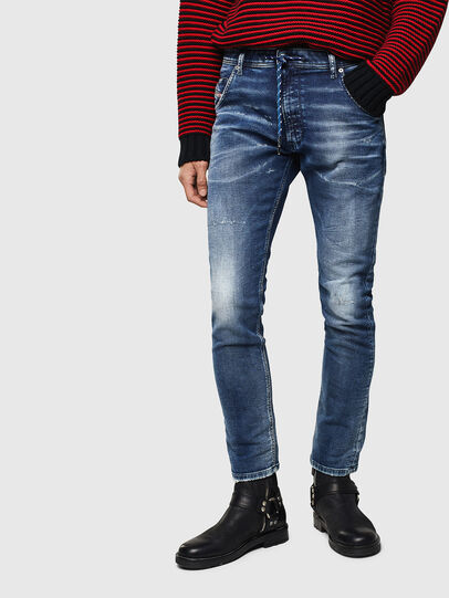 Diesel - Krooley JoggJeans 0096M, Dunkelblau - Jeans - Image 1