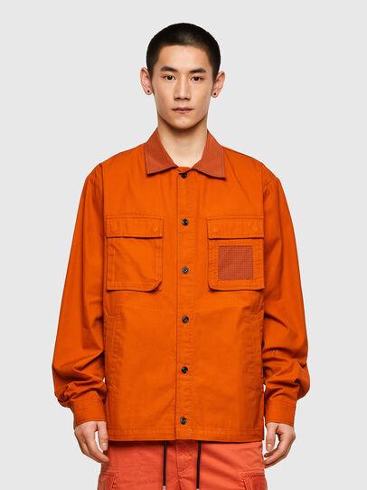 Diesel - S-GUNN-LS, Orange - Hemden - Image 1
