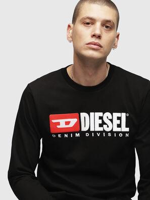 T-JUST-LS-DIVISION, Schwarz - T-Shirts