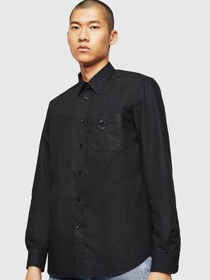 S-MOI-R-BW, Schwarz - Hemden