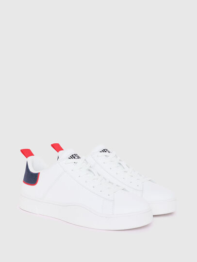 Diesel - S-CLEVER LOW LACE, Weiss/Rot - Sneakers - Image 2