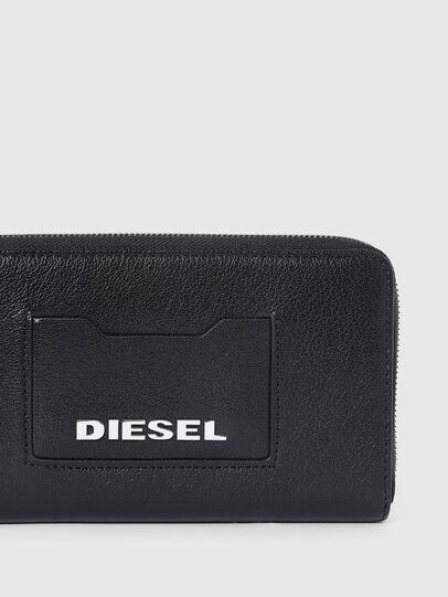 Diesel - GRANATO LC, Schwarz - Portemonnaies Zip-Around - Image 4