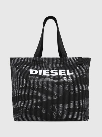 Diesel - D-THISBAG SHOP M, Schwarz - Shopper und Schultertaschen - Image 1