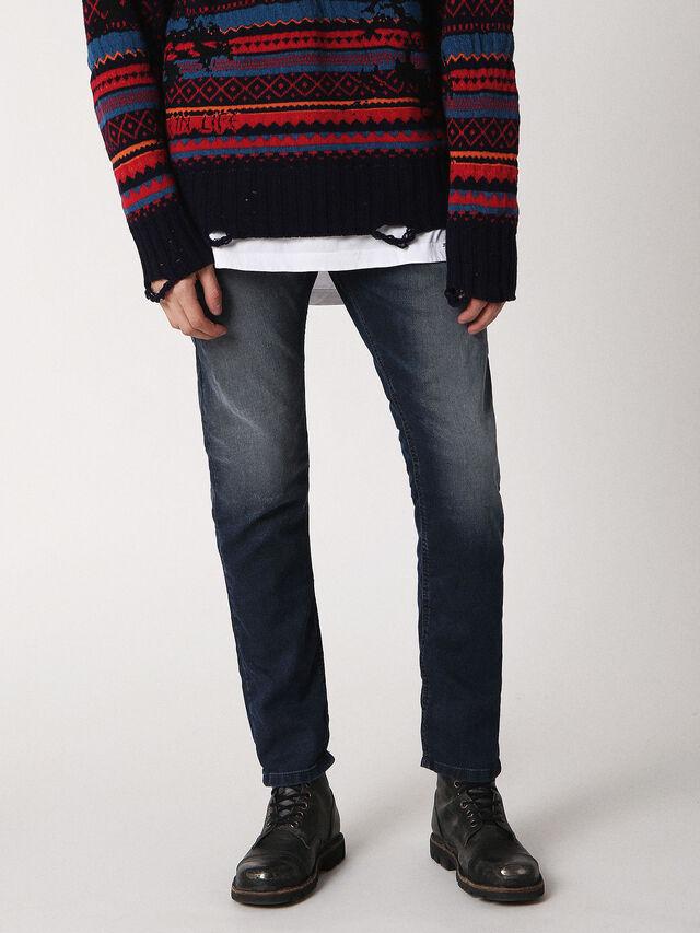 Diesel Krooley JoggJeans 0683Y, Dunkelblau - Jeans - Image 1