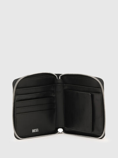 Diesel - PI-ZIP II, Rosa/Schwarz - Portemonnaies Zip-Around - Image 3