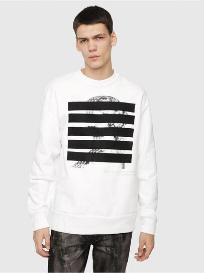 Diesel - S-BAY-YB, Weiß - Sweatshirts - Image 1