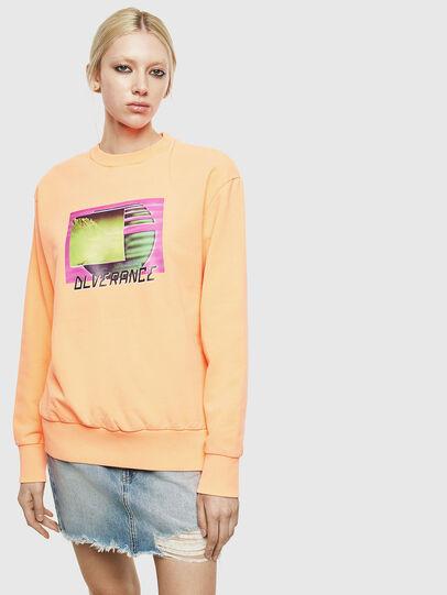 Diesel - S-BIAY-FLUO, Orange - Sweatshirts - Image 2