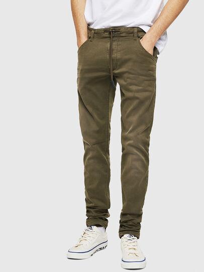 Diesel - Krooley Long JoggJeans 0670M, Armeegrün - Jeans - Image 1