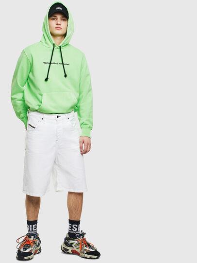 Diesel - S-GIRK-HOOD-FLUO, Neongrün - Sweatshirts - Image 7