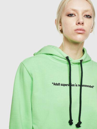Diesel - S-GIRK-HOOD-FLUO, Neongrün - Sweatshirts - Image 6