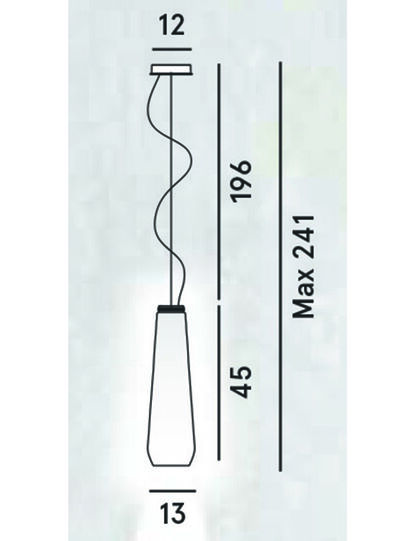 Diesel - GLAS DROP, Grau - Pendellampen - Image 2