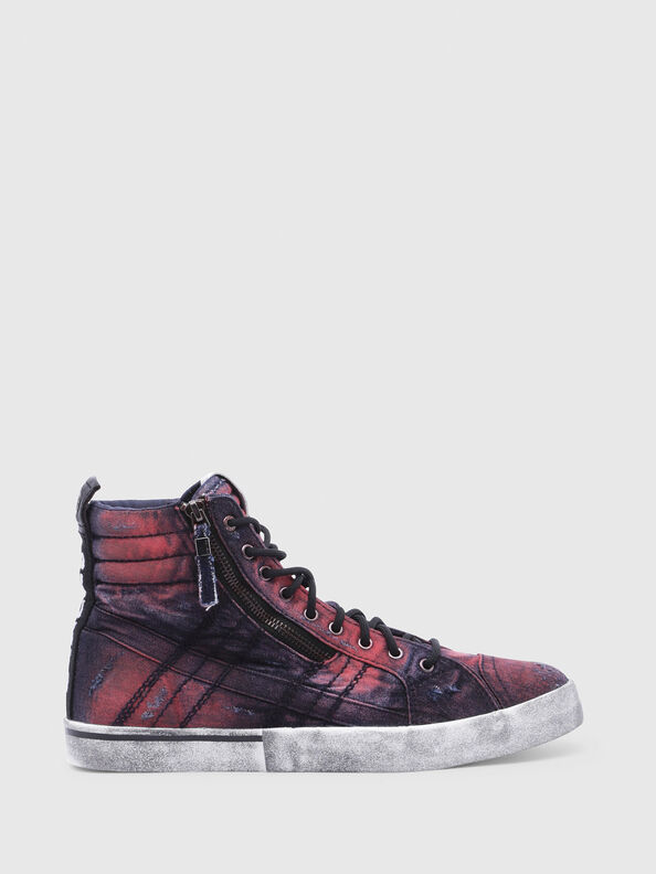 D-VELOWS MID LACE, Blau/Rot - Sneakers