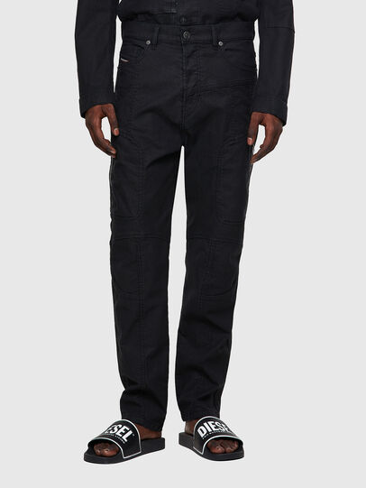 Diesel - D-VIDER JoggJeans® 0DDAX, Schwarz/Dunkelgrau - Jeans - Image 1