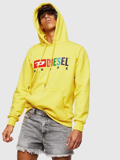 Diesel - S-GIR-HOOD, Gelb - Sweatshirts - Image 4