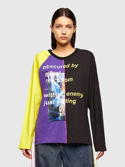Diesel - T-KIM, Violett/Schwarz - T-Shirts - Image 1