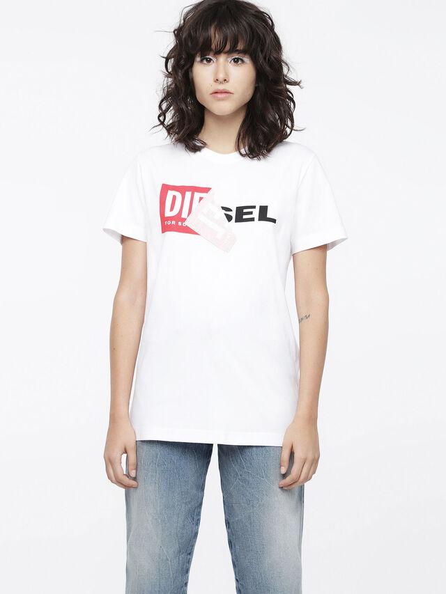 Diesel - T-DIEGO-QA-FL, Weiß - T-Shirts - Image 1