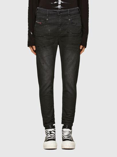 Diesel - FAYZA JoggJeans® 069QL, Schwarz/Dunkelgrau - Jeans - Image 1