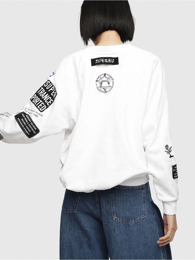 Diesel - F-JUSTY, Weiß - Sweatshirts - Image 2