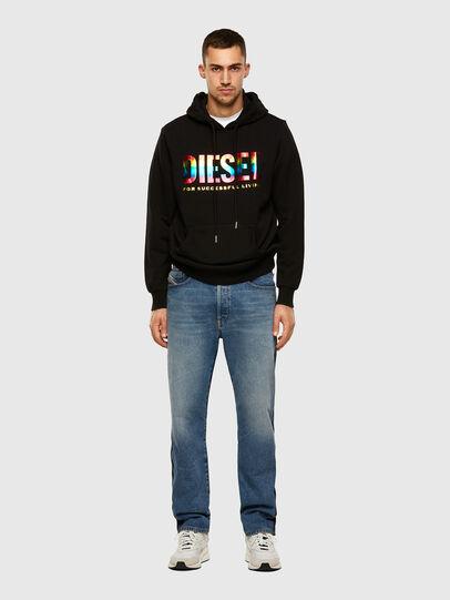 Diesel - S-GIR-HOOD-P, Schwarz - Sweatshirts - Image 4