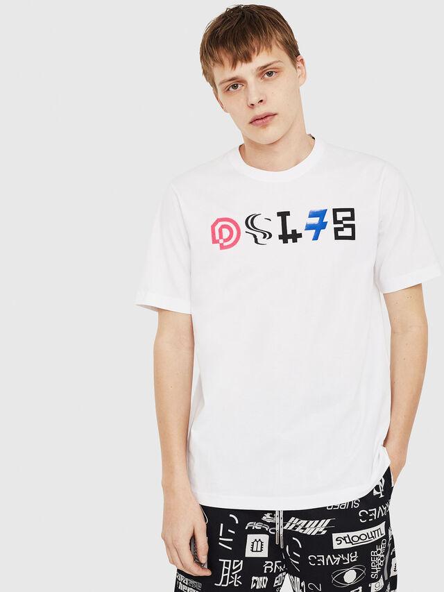 Diesel - T-JUST-Y17, Weiß - T-Shirts - Image 1