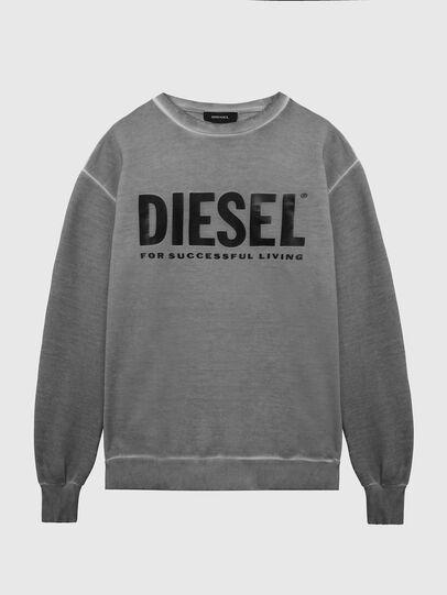 Diesel - S-GIR-DIVISION-LOGO, Dunkelgrau - Sweatshirts - Image 1