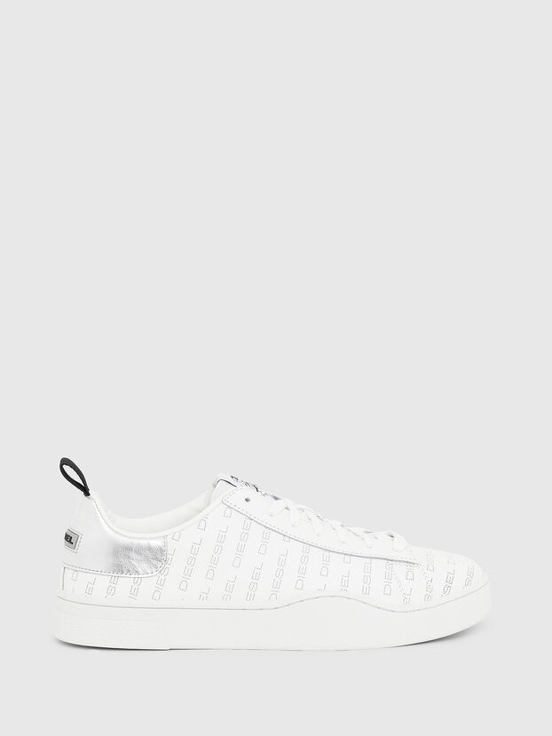 S-CLEVER LOW LACE, Weiß/Silber - Sneakers