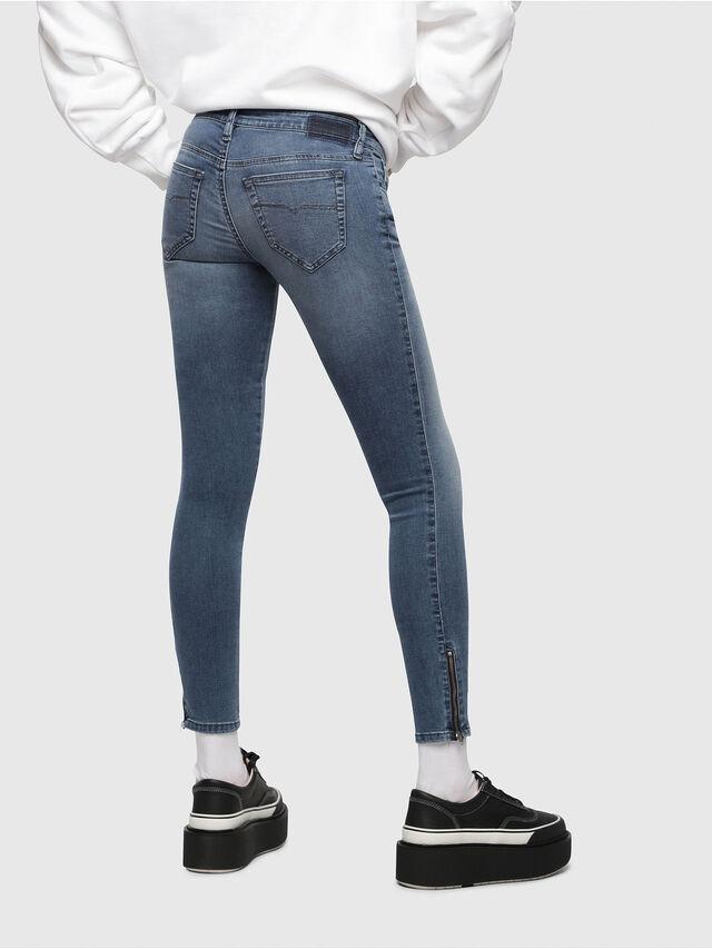 Diesel Skinzee Low Zip 0681P, Mittelblau - Jeans - Image 2