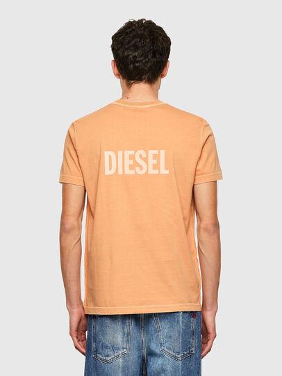Diesel - T-DIEBIND-B1, Orange - T-Shirts - Image 2